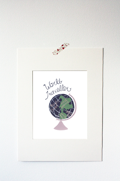 WORLD TRAVELLER PRINT
